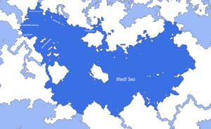 Map of the Medi Sea