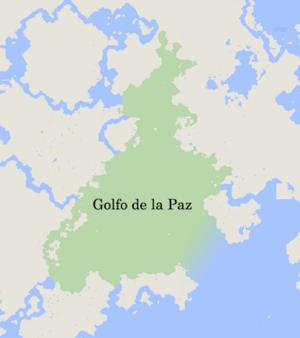 Map of Golfo de la Paz