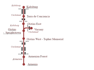 Diagram showing the stations of the railway